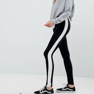 leggings with white stripe 8 tall